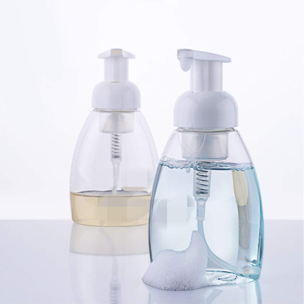 8,5 oz 250 ml Dispensador de jabón líquido contenedores, libre de BPA, rellenable, botella de jabón con bomba, uso para almacenar caseros líquido jabón, jabón, el cuerpo lavado y más.: Amazon.es: Hogar