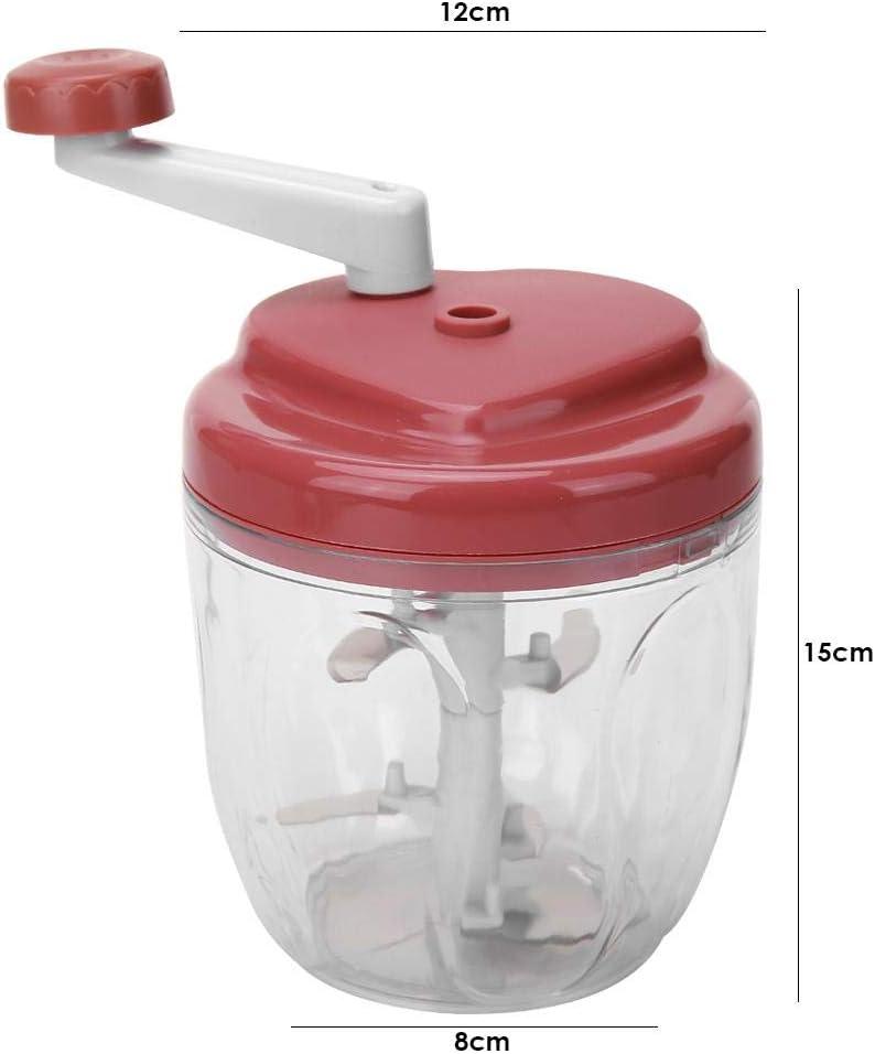Verde Demiawaking Tritatutto Manuale a Manovella Chopper per Carne Verdure Zenzero Aglio Tritacarne Frullatore Manuale Multifunzione Gadget da Cucina