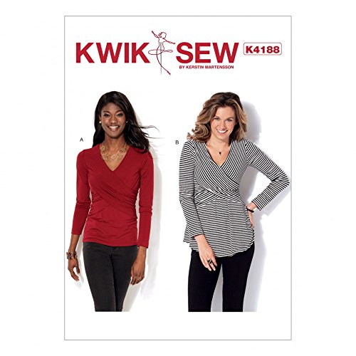 KwikSew Schnittmuster 4188Front Damen Crossover Jersey Knit Tops