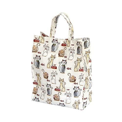 SPOTTED DOG GIFT COMPANY Einkaufstasche faltbar Reisenthel Shopper mit niedlichem Katzen-Motiv Geschenk für Frauen Katzenliebhaber