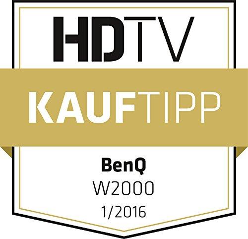 BenQ W2000 1080p 100% Home Cinema Projector (Rec.709, DLP, 2000 Lumens, 15000:1 High Contrast Ratio, Short Throw, 1920 x 1080, 20W Speaker, 3D, HDMI, Wireless, Easy Setup, CinePrime Series)