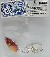 蛙スプーン3.2g (シルバーベース:レッドゴールド)
