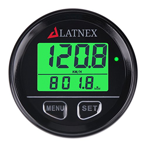 SP-GPS95 Universal Digital GPS Speedometer Waterproof. Displays Speed(MPH/KMH), Distance Traveled and Time - Suitable for ATV UTV-Marine-Boats-Motorcycle- Automobile Motor Vehicle Bikes (Black)