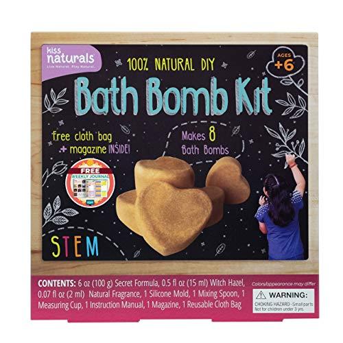 Kiss Naturals DIY Bath Bomb Making Kit – Make Your Own Bath Bomb Kit for...