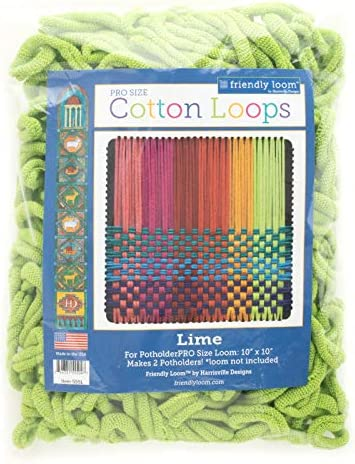 Harrisville Designs Friendly Loom Potholder Cotton Loops 10 Inch Pro Size Loops Make 2 Potholders product image