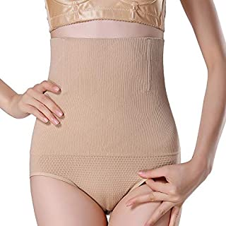 LIFANG Women High Waist Shaping Panties Breathable Enhanced Body Shaper Slimming Tummy Underwear Panty Shapers (Color : Skin, Size : 4XL)