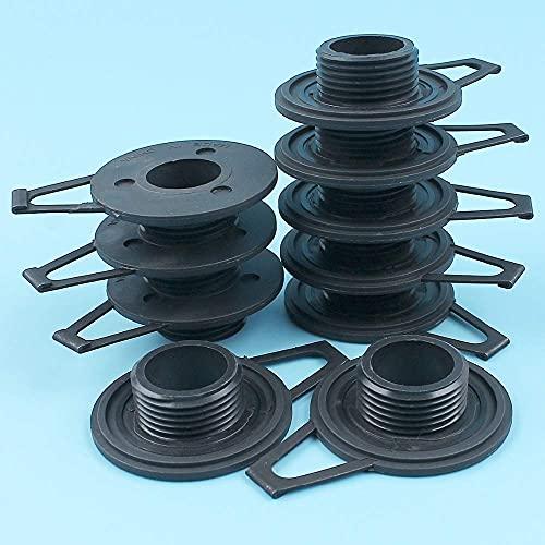 HaoYueDa Kit de Engranaje helicoidal de Bomba de Aceite de 10 Piezas Compatible con Husqvarna 362365371372385390 Motosierra # 503 75 61-02 Piezas de Repuesto Nuevas