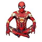 GYMAN Vengadores Iron Spiderman Disfraces 3D Imprimir Cosplay Mono Carnaval De Halloween Traje De Superhéroe Traje De Disfraces para Fiesta Película Accesorios De Disfraces,Kids/110~120cm