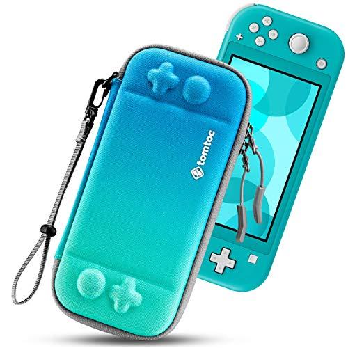 tomtoc Slim Tasche für Nintendo Switch Lite, Tragetasche Carrying Case Hartschale für Switch Lite Konsole und 8 Spielkarten, Schutzhülle mit Originell Patent und Militärischer Schutz,