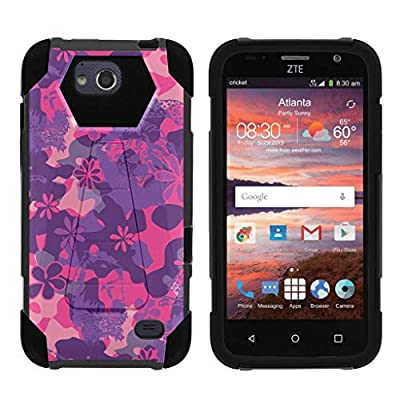 TurtleArmor | Compatible for ZTE Majesty Pro Case | ZTE Majesty Pro Plus Case [Dynamic Shell] Hard Hybrid Kickstand Silicone Impact Cover Protection Girl Designs - by TurtleArmor