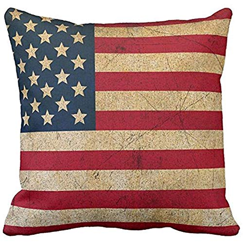 Hey Judey Fodera per Cuscino Fodera per Cuscino Fodera per Cuscino Copricuscino con Bandiera Americana per Divano O Cuscino per Auto,45x45 CM