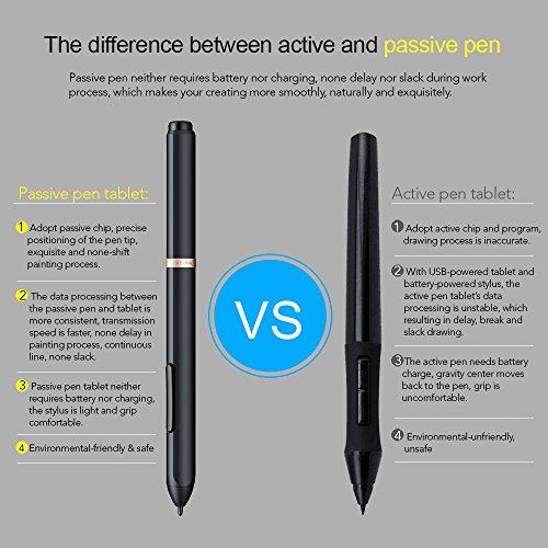 XP-Pen PN03 Battery-free Pen Only for XP-Pen Star 04 05 Deco01(Black)