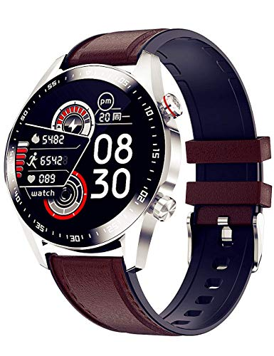 Reloj inteligente para hombre con llamadas Bluetooth, música Bluetooth, 6 modos de ejercicio, interfaz principal, pantalla de cuatro esferas Ui, monitor de frecuencia cardiaca con esfera automática.