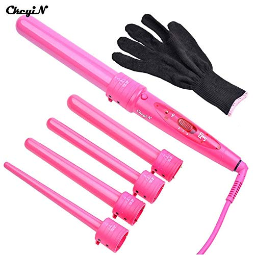 Rizador 5in1CeramicHair Curler 09-32mm Hair Curler Hair Curler HairCurler Electric CurlingHairProfessional Styling ToolHairCurler Pink