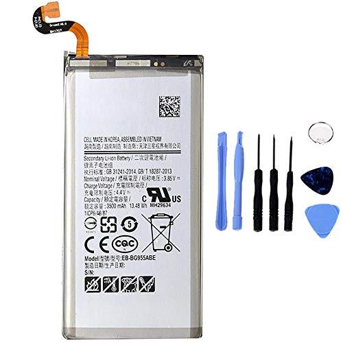 Ellenne Batteria Compatibile con Samsung Galaxy S8+ Plus G955F EB-BG955ABE AD Alta capacità 3500MAH con Kit SMONTAGGIO Incluso