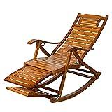 Diseña con cuidado, solo para romper lo extraordin Taburete de tumbonas - bambú, silla mecedora de madera con reposo telescópico de pie y masajeador de pies con tumbona para tomar el sol de la silla c