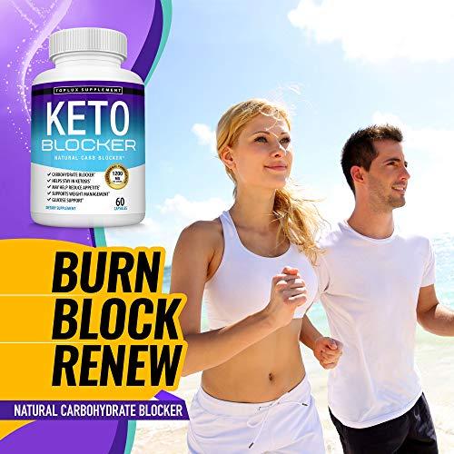 Keto Blocker Pills White Kidney Bean Extract - 1200 mg Natural Ketosis, Support Keto Diet, for Men Women, 60 Capsules, Toplux Supplement 4