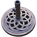 DC America UBP18181-BR 18-Inch Cast Stone Umbrella Base, Made from...