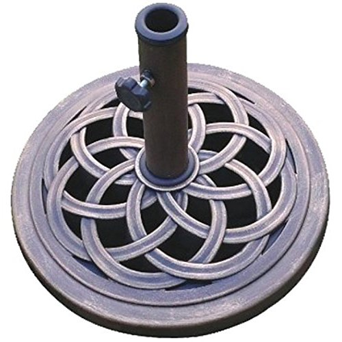 DC America UBP18181-BR 18-Inch Cast Stone Umbrella Base, Made from Rust Free Composite Materials,...