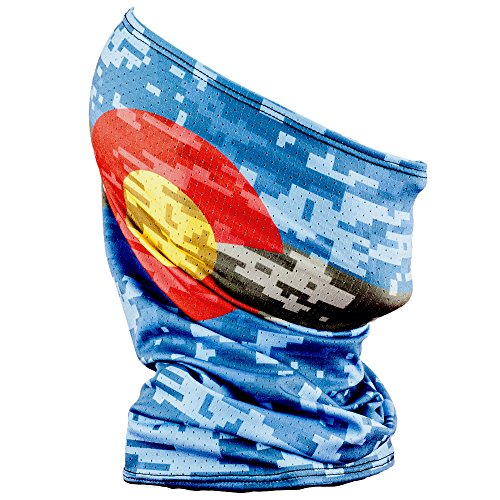 Fishmasks Single Layer Neck Gaiter - Lightweight, Fishing Protection From Sun, Wind And Moisture - Made In USA - UPF 50+ Moisture-Wicking Fabric - Colorado Digi Camo