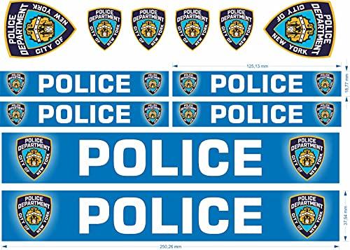 beihaasnatuerlich® us Police Aufkleber Sticker Polizei Feuerwehr 11-teiliges Set Zubehör für Bobbycar Fahrrad Laufrad Modellbau Bike Boot Auto Playmobil Plakette RC (Police)
