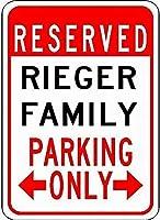 金属サインリーガー家族駐車場ノベルティ錫通り看板