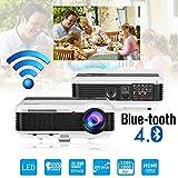 Bluetooth WiFi HD LED Vidéoprojecteur 4500 Lumens Multimédia Android LCD Projecteur de Cinéma...