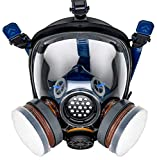 PT-100 Full Face Gas Mask & Organic Vapor Respirator- ASTM Tested - Eye Protection