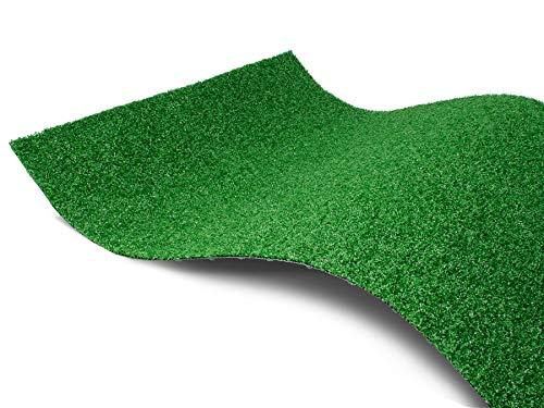Kunstrasen-Teppich Rasenteppich WIMBLEDON mit Drainage - 2,00m x 0,50m, Bodenbelag für Balkone und Terrassen, Florhöhe ca. 6 mm, UV-beständiger, Wasserdurchlässiger Kurzflor Outdoorteppich