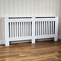 Vida Designs Chelsea-Rejilla para radiador, diseño de Listones, Color Blanco, X-Large