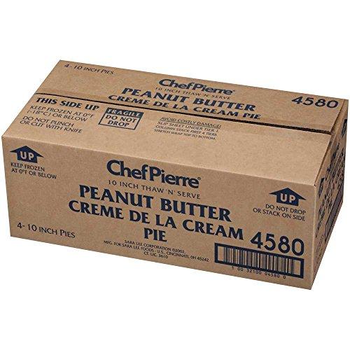Sara Lee Chef Pierre Peanut Butter Creme de la Cream Pie, 10 inch -- 4 per case.