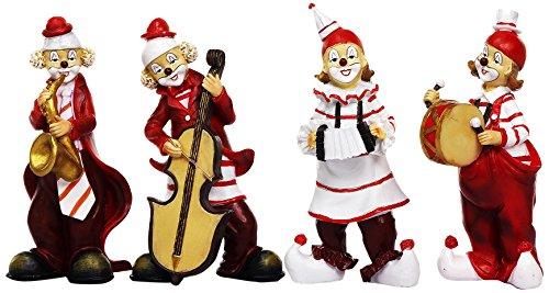 Unbekannt Sunny Toys 13268 Poly Clown mit Musikinstrumenten Circa 17 cm, 4 Fach Sortiert