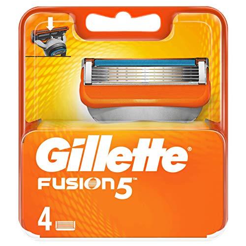 Gillette Fusion 5 Lamette di Ricambio Uomo, 4 Pezzi