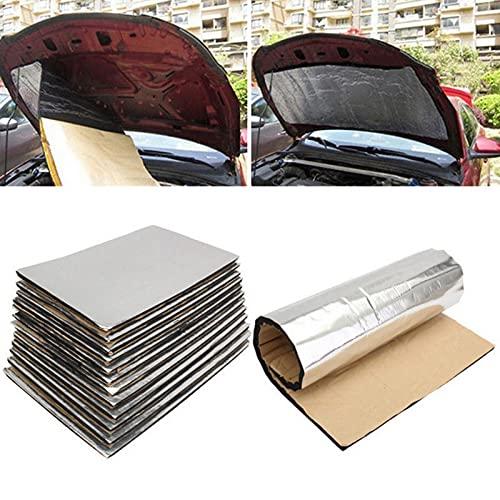 Alfombrilla insonorizante de 12 piezas de 5 mm, alfombrilla aislante térmica para coche, alfombrilla insonorizante con respaldo adhesivo para aislamiento térmico y amortiguación de ruido (50x30 cm)
