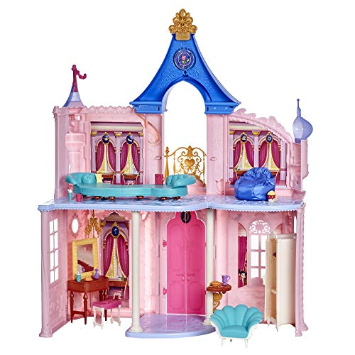 Disney Princess Comfy Squad Comfy Castle, Doll House with 6 Pieces of Furniture and 16 Accessories (Amazon Exclusive)