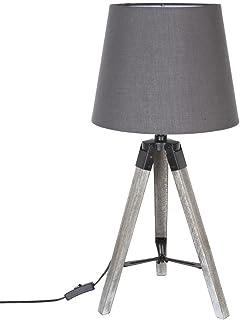 marque Atmosphera, créateur d'intérieur Lampe trépied en Bois RUNO Gris H58cm
