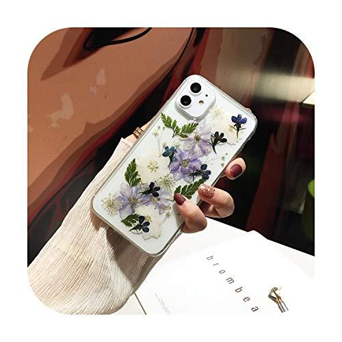 Uulalala - Carcasa para iPhone 11 Pro Max X XS Max XR 6, 6S, 7 8 Plus SE 2020, diseño de flores