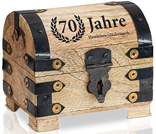 Brynnberg - piraten schatkist klein jaar hartelijk felicitatie - verjaardagscadeau + jubileum - kist van hout met gravure