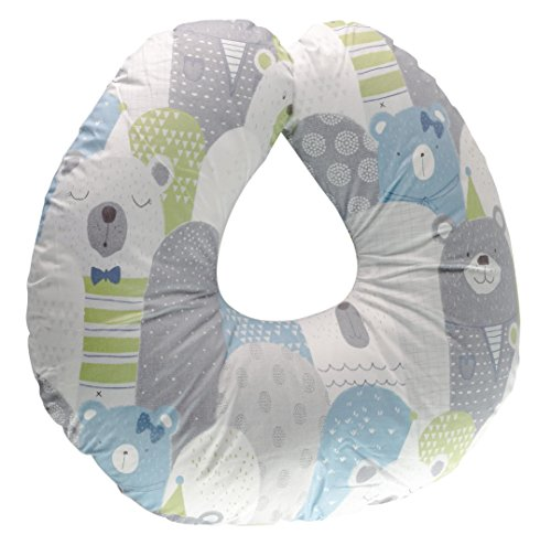 Asani Extra-Soft Breastfeeding Baby Support Pillow w/100% Hypoallergenic Removable Slipcover | Antibacterial Newborn Infant Feeding Cushion | Portable for Travel | Nursing Pillow for Boys&Girls
