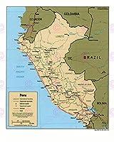 地図政治CIA 1991年ペルーオールドヒストリックラージレプリカポスター印刷PAM1416