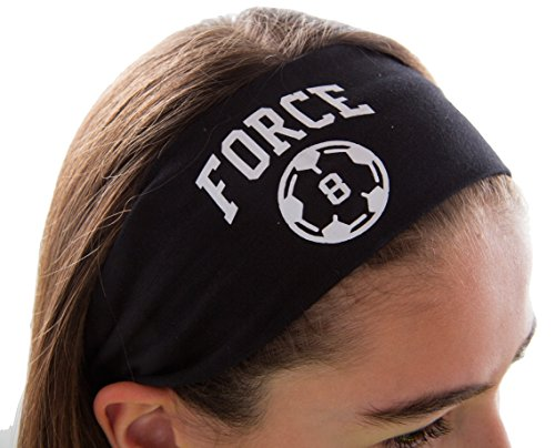 soccer headbands Design Your Own Personalized Soccer Cotton Stretch Headband Varsity Font with Custom Name by Funny Girl Designs
