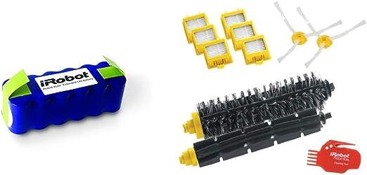 iRobot Xlife - Batería Original para el Robot Aspirador iRobot Roomba + 4503462 Robot Aspirador Filtro y Cepillo Accesorio y Suministro de vacío - Accesorio para aspiradora: Amazon.es: Hogar