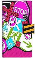 楽天モバイル OPPO A73 手帳型 スマホ ケース カバー YB975 マーク03 横開き UV印刷