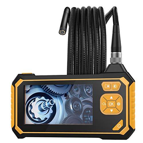 MoKo Hand Endoskopkamera, Industrie Endoskop 4,3 Zoll-LCD Bildschirm 3M Halbsteife Snake Kabel Wasserdicht Inspektionskamera Digitales Videoaufnahme 1080P HD Boreskop ohne WLAN-Verbindung