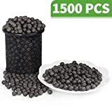 LuckIn 3/8 Inch Slingshot Ammo Balls, Biodegradable Clay Slingshot Ammo, Soil Color, 1500 Pcs