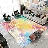 Color Abstracto Serie De Acuarela Alfombra Hogar Dormitorio Manta...