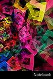 Notebook: Abstractos, Cuadrados, Triángulo, Polígono Cuaderno / Diario / Libro de escritura / Notas - 6 x 9 pulgadas (15.24 x 22.86 cm), 150 páginas, superficie brillante.