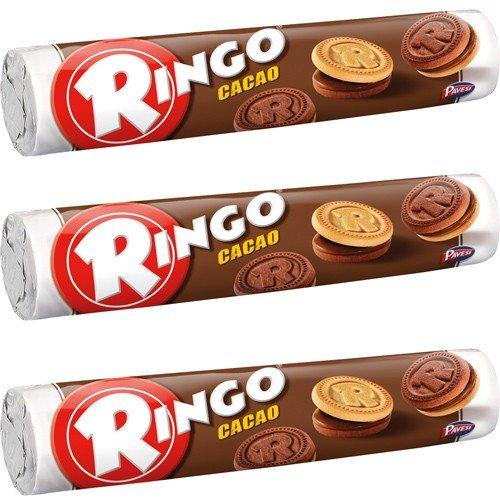 3x Pavesi Ringo Kekse Cacao 'Kakao', 165 g