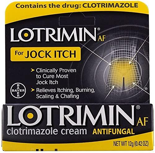 Lotrimin AF Jock Itch Antifungal Cream, Clotrimazole 1%, Clinically Proven Effective Treatment of Most Jock...
