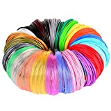 24 Colors PLA 3D Pen Filament Refills, Each Color 20 Feet, Total 480 Feet, Pack with 4 Finger Caps by Mika3D